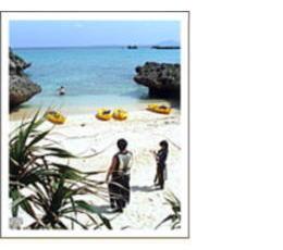 きれいな砂浜やどかり島へ上陸